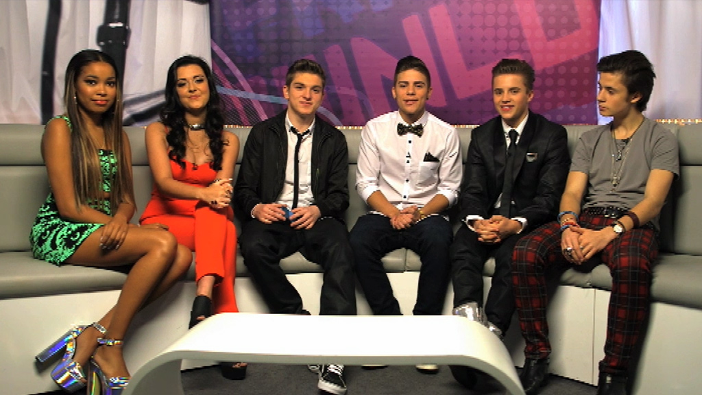 Friday Download presenters at the Teen Awards