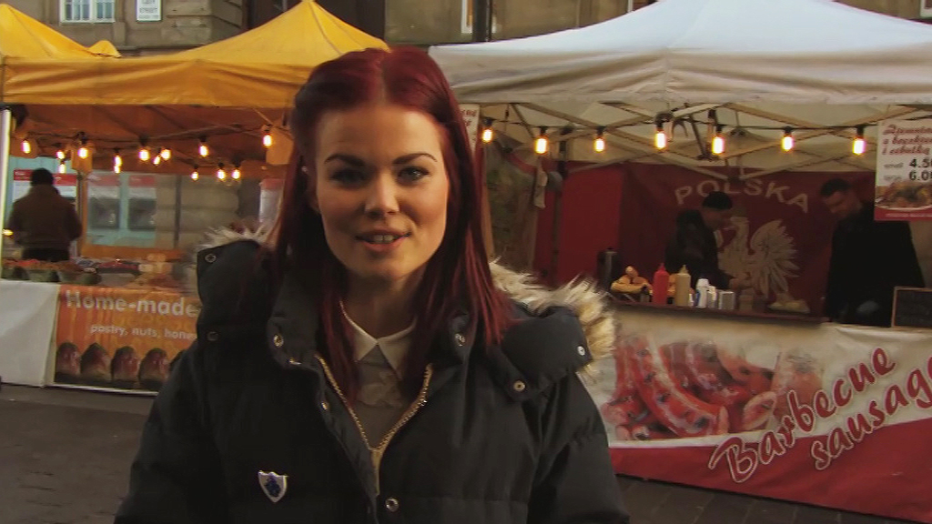 Lindsey at a christmas market