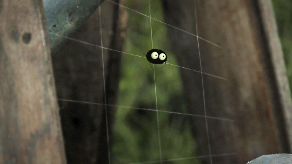 The spider in his web.