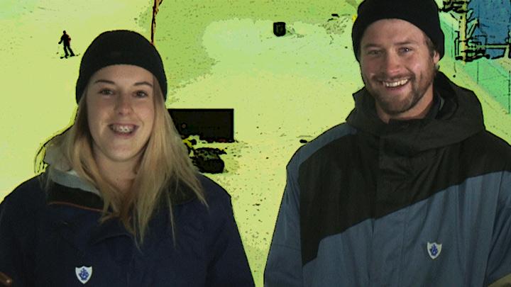 Katie Summerhayes and Billy Morgan