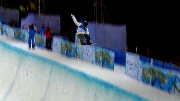 Ski and Snowboard Half Pipe