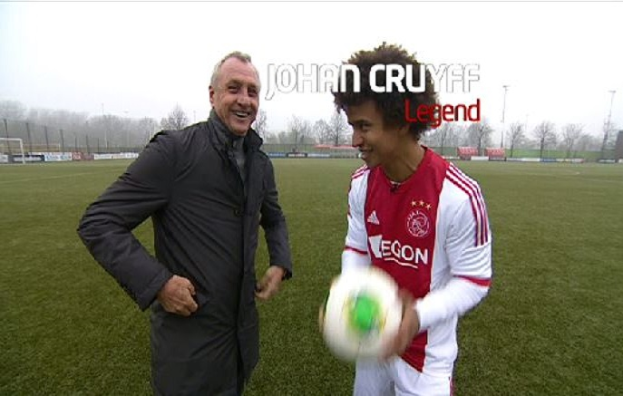 Johan Cruyff and Radzi.