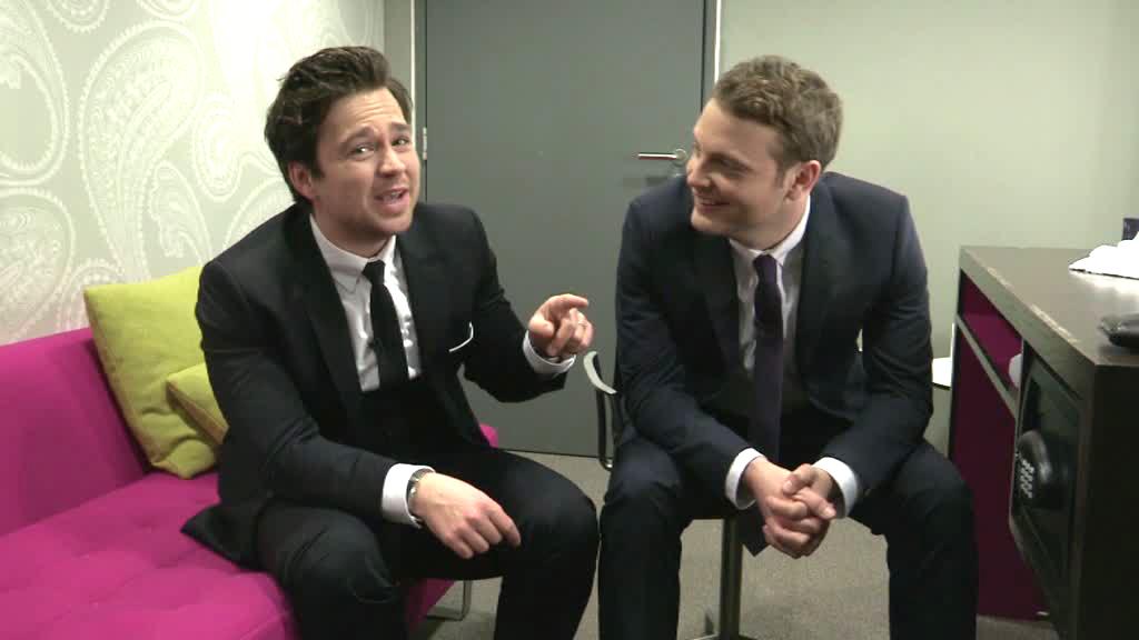 Sam and Mark backstage.