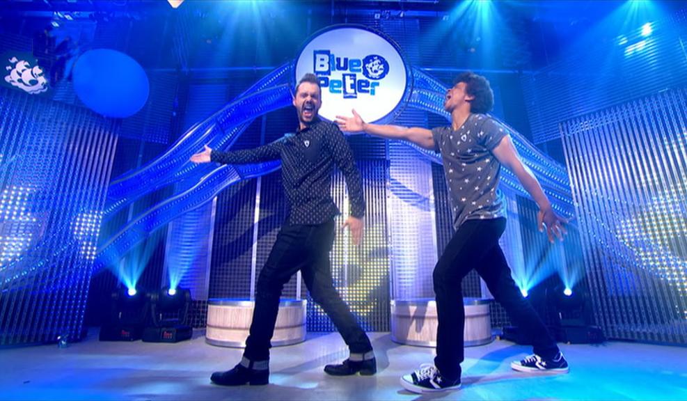 Barney and Radzi dancing