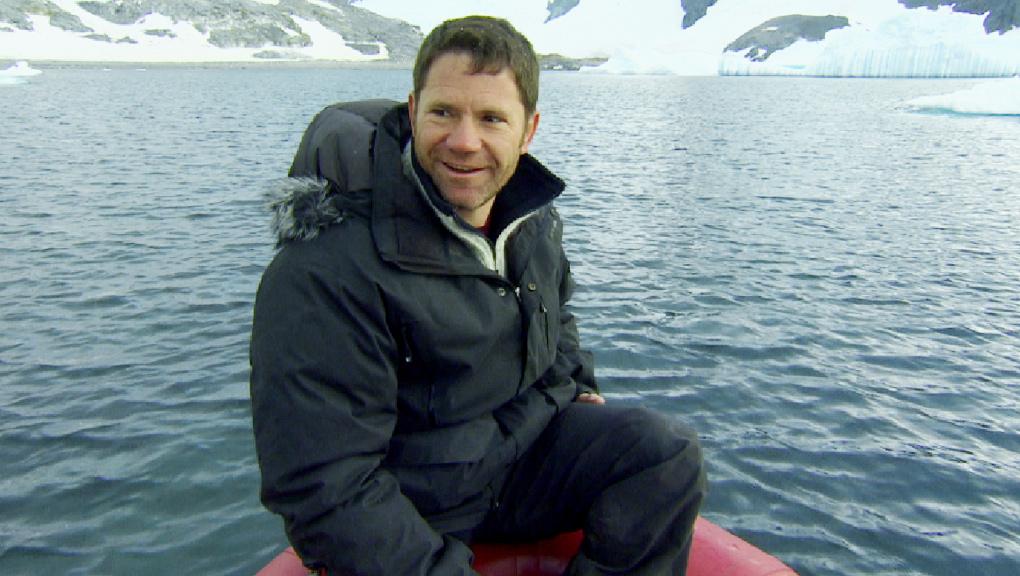 Steve in a boat.