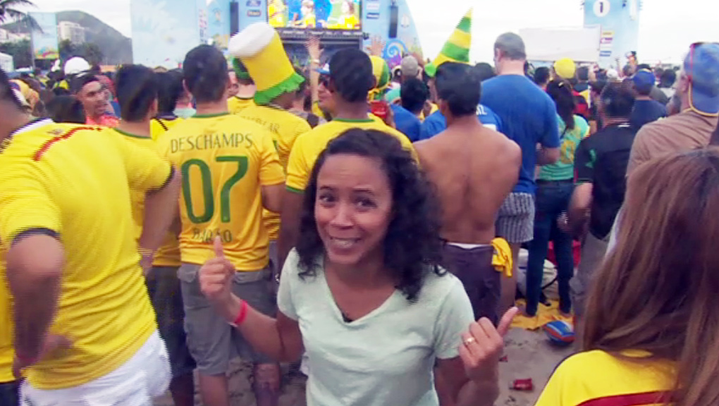 Leah at the World Cup.