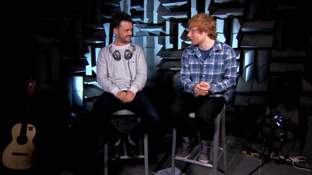 Ed Sheeran and Barney