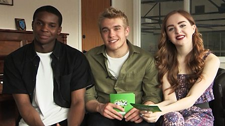 Bobby Lockwood, Louisa Connolly-Burnham and Kedar Williams-Stirling (Rhydian, Shannon and Tom from Wolfblood).