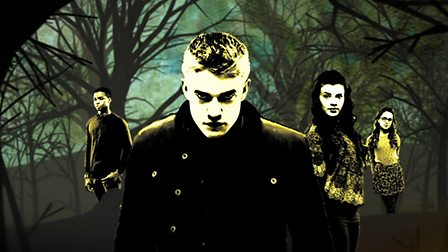 Rhydian, Jana, Tom and Shannon from Wolfblood.