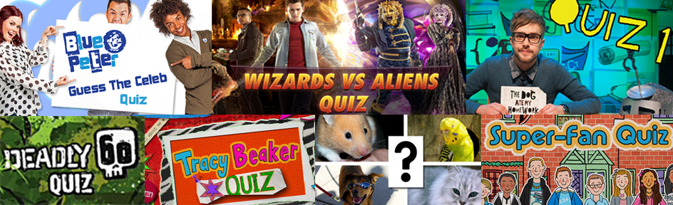 Group of CBBC quizzes.
