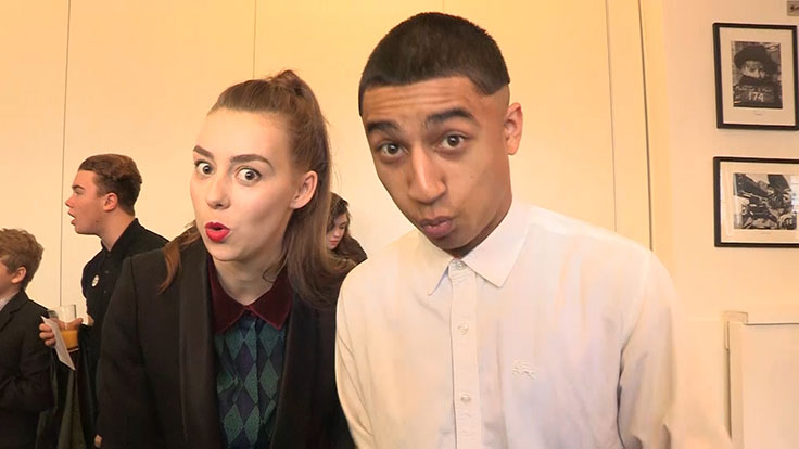 Karim and Grace at The Sparticle Mystery series premiere.