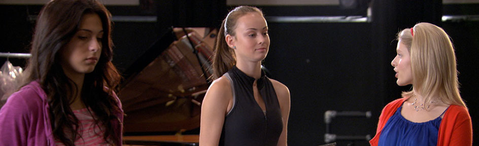 Stephanie and Emily at the Elite dance school.
