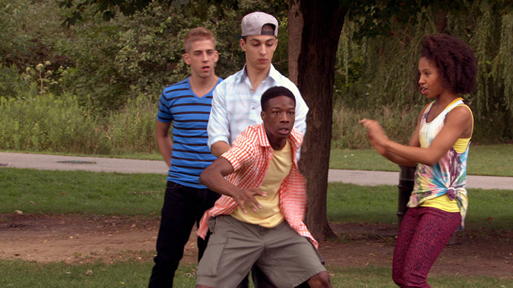 Eldon, James, Tiffany and West are in the park when West becomes awkward and runs away.