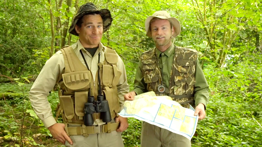 Tim and Gendle with a map.