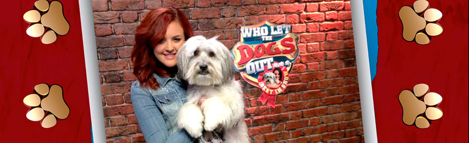 Ashley and Pudsey on Who Let The Dogs Out.