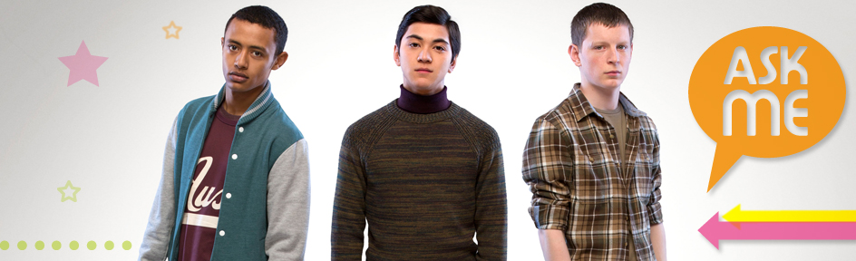 Nahom, Johnny and Niek, aka Sam, Jimi and Liam, Wolfblood.