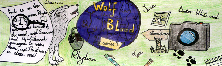 Honor's design for the Wolfblood Fan Club banner.