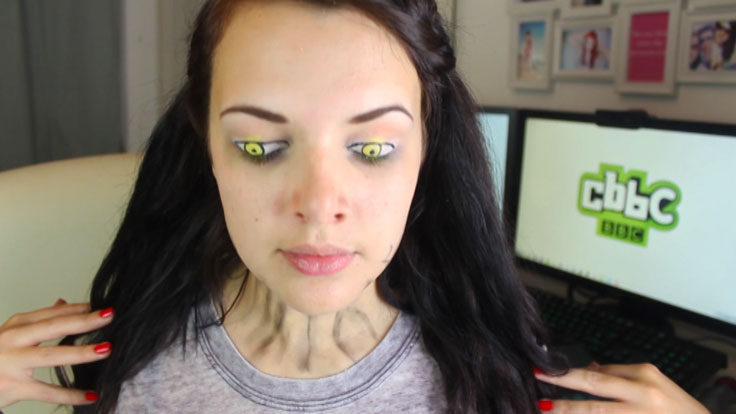 Cherry Wallis with Wolfblood makeup.