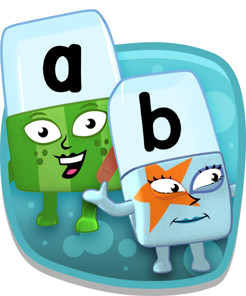 A and B alphablocks.