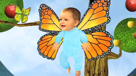 Baby Jake as a butterfly