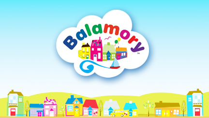 The Balamory logo over an illustrated Balamory