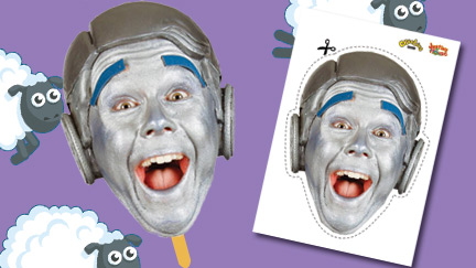 Justin's House - Robert the Robot Face Mask