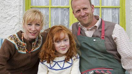Katie Morag with her parents
