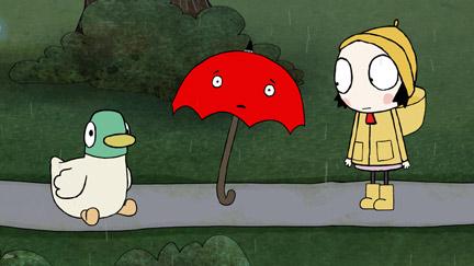 Sarah and Duck - Umbrella and the Rain