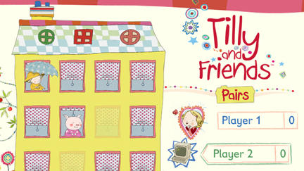 The yellow house with Tilly and Friends logo