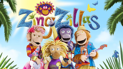 ZingZillas with musical instruments.