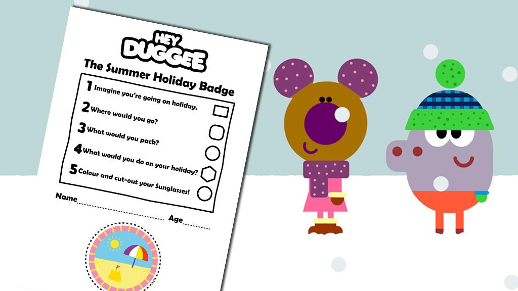 activity sheet hey duggee new the super squirrel badge activity sheet ...