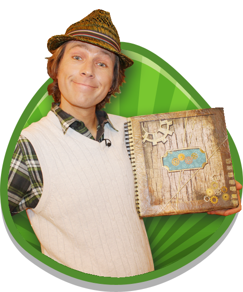 Mr Bloom holding the log book.