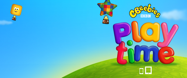CBeebies Playtime app logo.