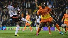 Hugo Rodallega of Fulham scores