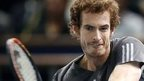 Andy Murray at the Paris Masters