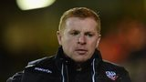 Neil Lennon looks on