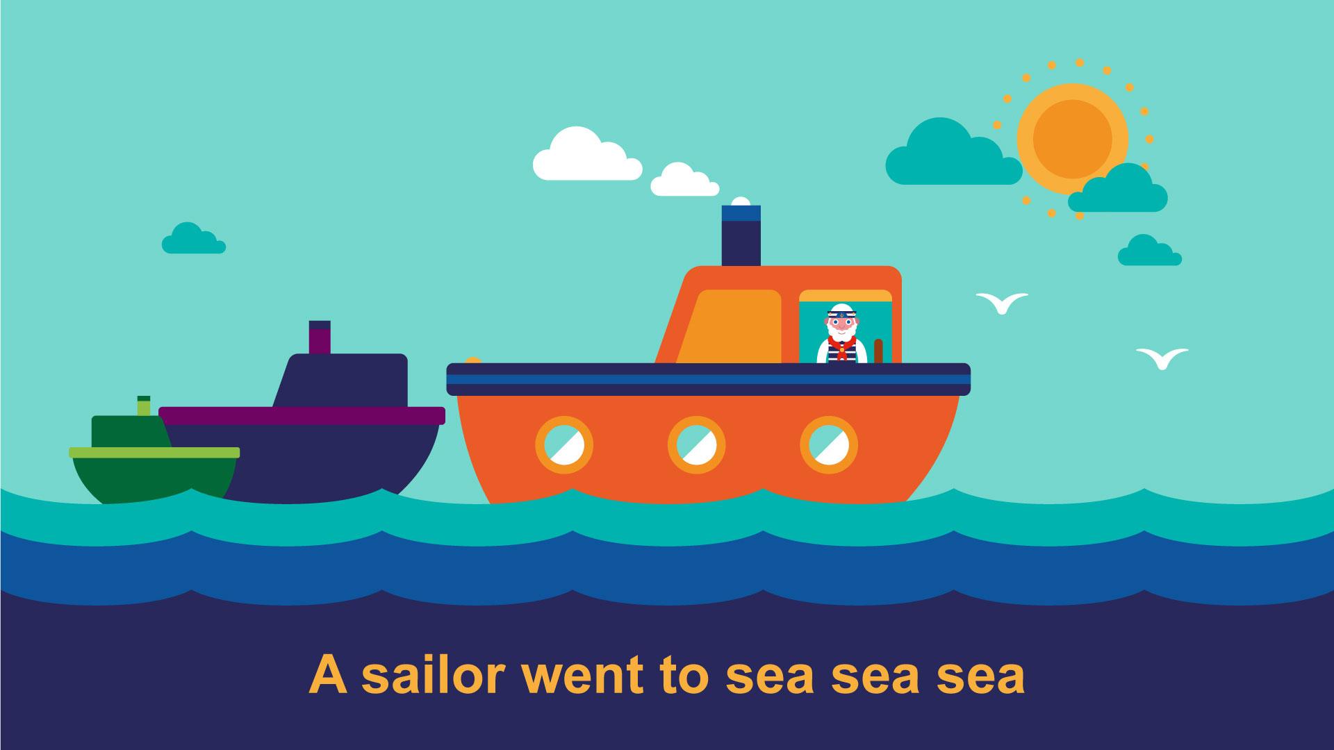BBC School Radio: Nursery songs and rhymes - A sailor went to sea, sea, sea