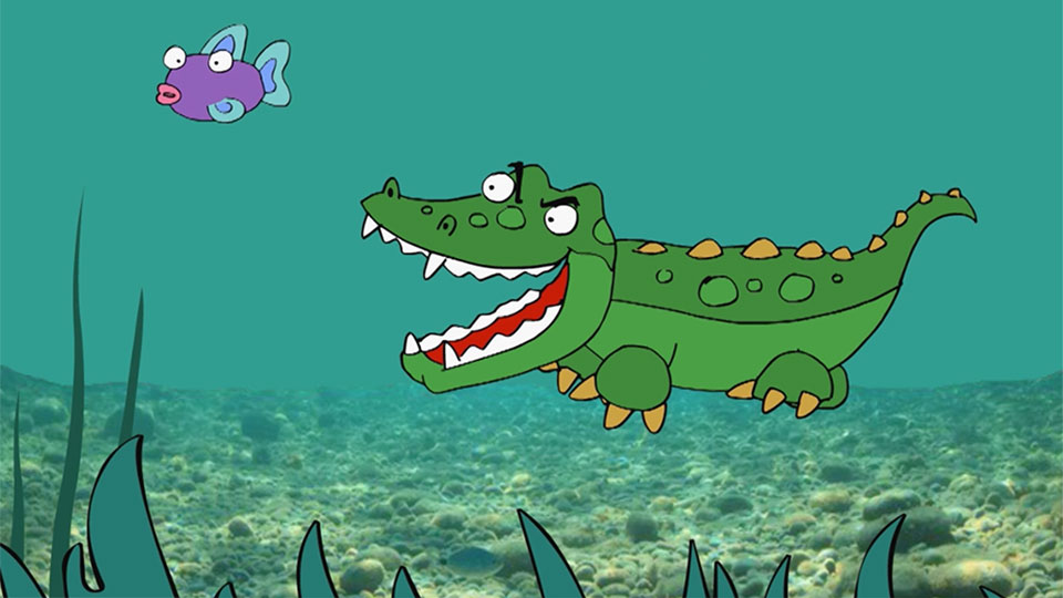 BBC School Radio: Nursery songs - Look at the sneaky crocodile