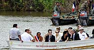 French dignitaries visit the Amazon in French Guiana