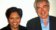 Owen Bennett-Jones with Indra Nooyi