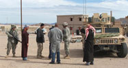 US soldiers and mock Iraq citizens at Medina Wasl