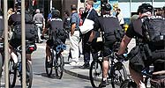 Police in Denver on bikes
