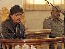 پرویز کامبخش در جلسه دادگاه در کابل
