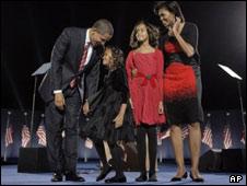 خانواده باراک و میشل اوباما