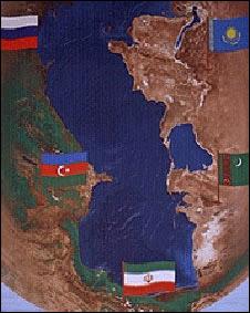 پرچم کشورهای ساحای دریای خزر