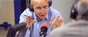 A radio presenter