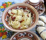 Pyrohy with potato filling