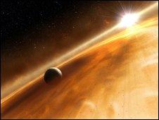 Estrela Fomalhaut e planeta