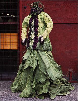 Vestido de repolho