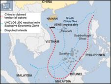 Bản đồ vùng Biển Đông mà TQ nhận chủ quyền